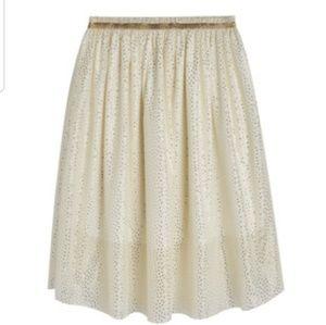 Gold Shimmer Tulle Skirt - MARSHMALLO